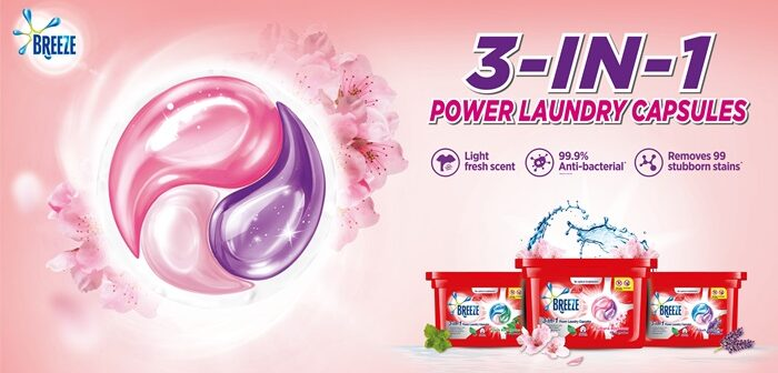 New Breeze 3-in-1 Power Laundry Capsules – Triple Action Against Stubborn Stains, Bacteria, & Odour, Our Parenting World